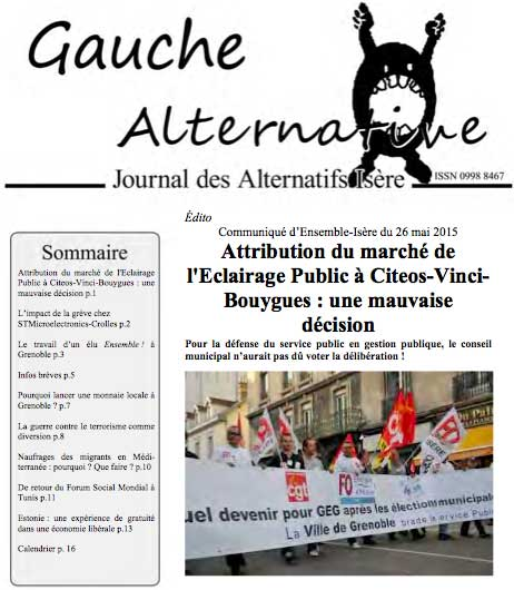 Gauche Alternative n°153 juin 2015